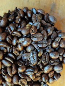 Jamaica Blue Mountain Blend coffee beans.