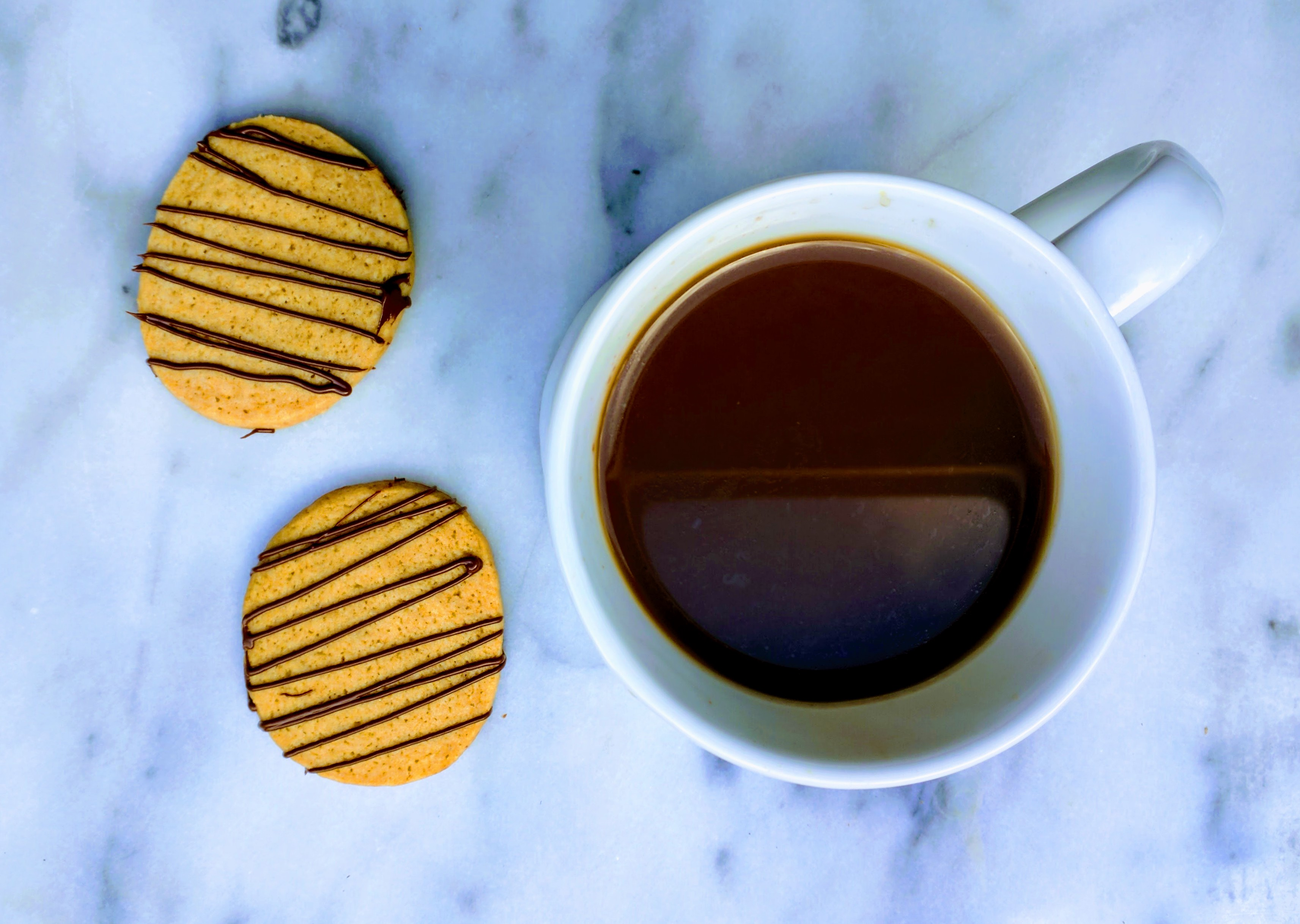 Sugar cookies and coffee
