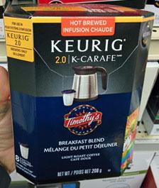 Keurig K-Carafe filters for use in a Keurig 2.0 brewer.