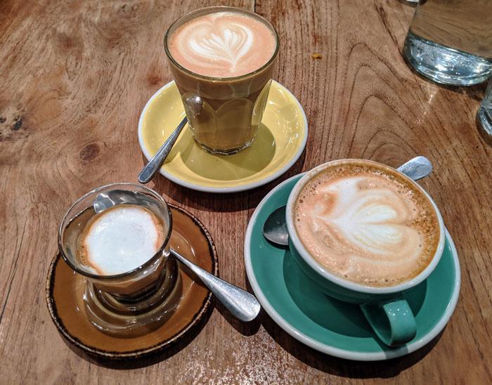 3 Espresso based coffee drinks