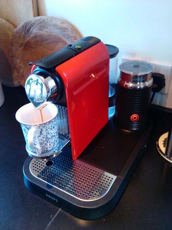 nespresso espresso machine with milk frother