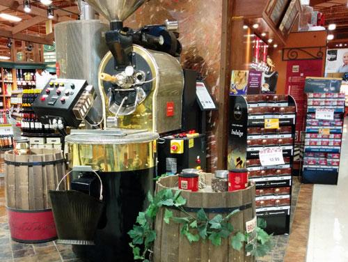 In store coffee roaster