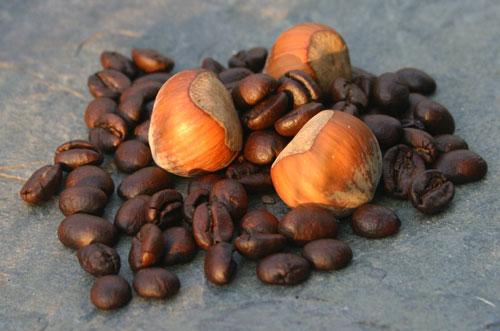 Hazelnuts and coffee