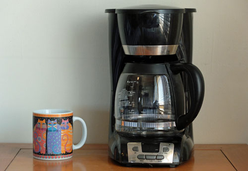 Plastics in coffee makers.