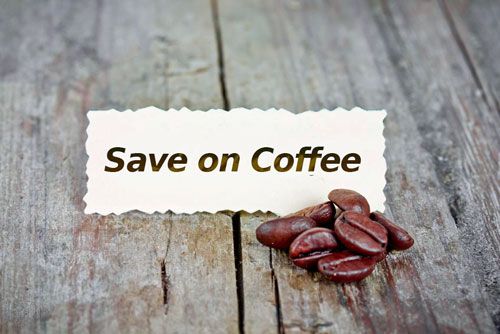 Save on the price of coffee