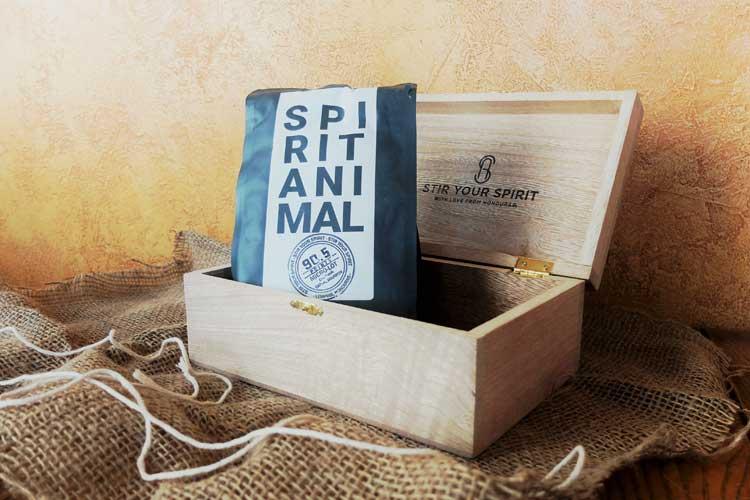 Spirit Animal Coffee in wooden box