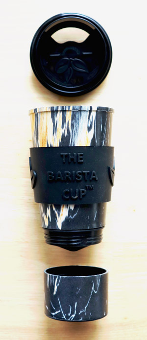 The Barista Cup in sections