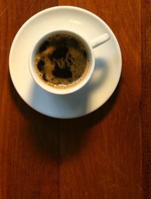 Espresso on wood