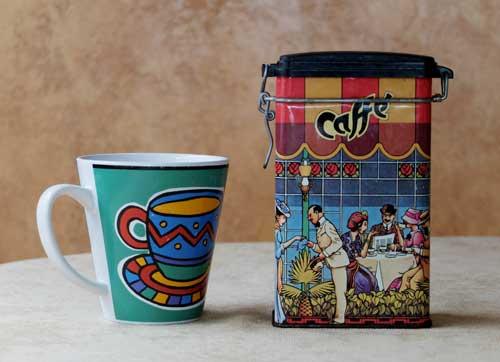 Coffee tin.