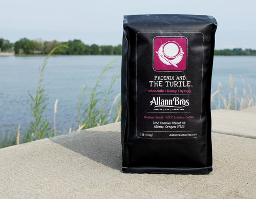 Allann Bros Phoenix and The Turtle coffee blend.