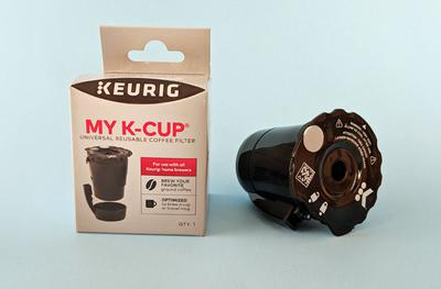 The MY K-CUP reusable coffee filter from Keurig.