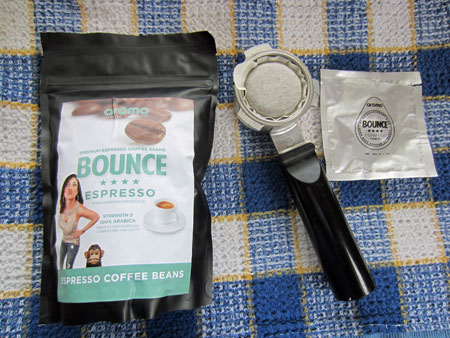 Aromo coffee Bounce espresso pod