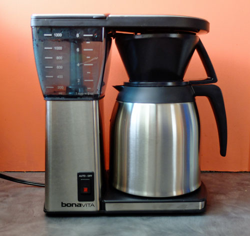 Bonavita coffee maker with thermal carafe.