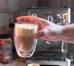 Cappuccino from Breville espresso machine