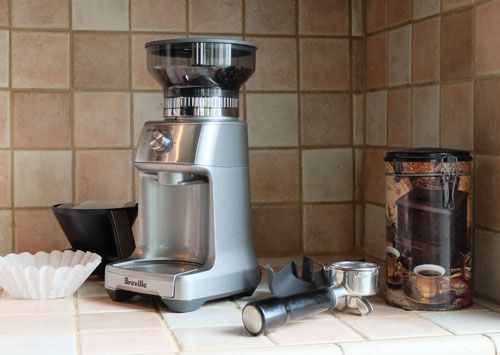 The Breville Dose-Control Pro burr coffee grinder.