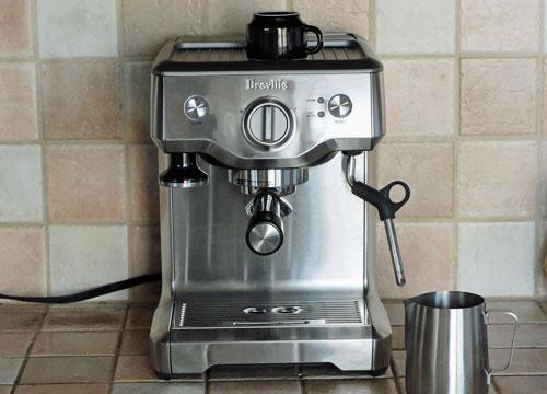 The Breville Duo-Temp Pro espresso machine