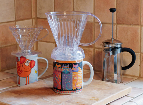 The Clever Dripper coffee maker.
