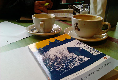 Coffee and poetry book