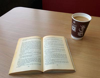 Yes, you can even enjoy coffee and a good book at McDonalds!