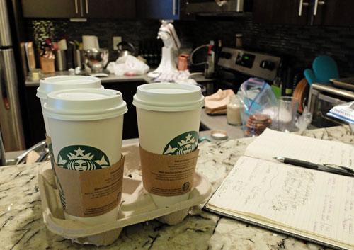 Bringing Starbucks coffee home.