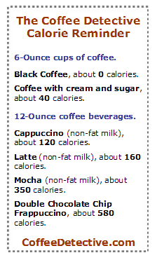 Are There Many Calories In Coffee