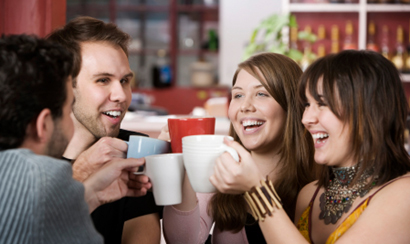 young people enjoying the coffee lifestyle