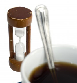 time how long it takes your coffee to brew