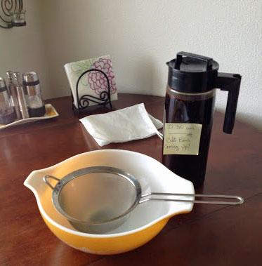 Strain your cold-brew coffee.