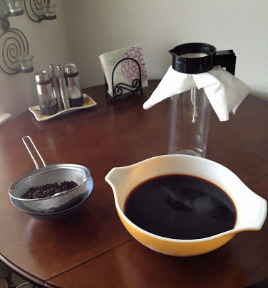 Strain your cold-brew coffee a second time.