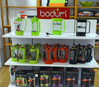 bodum french press in bright colors