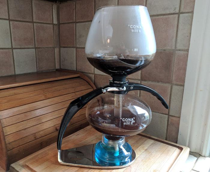 Cona vacuum coffee maker