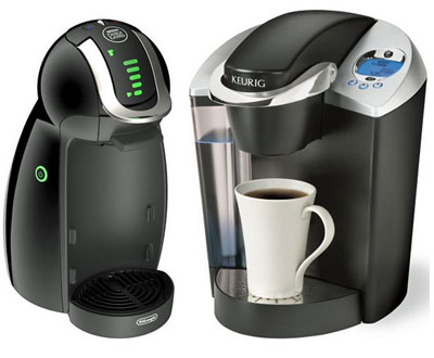 The Dolce Gusto and Keurig brewers.