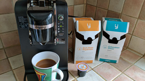 DripJoy single serve coffee maker