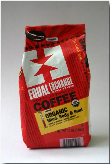 Equal Exchange organic coffee.