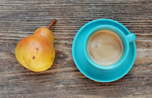 Espresso and pear