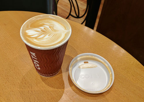 Flat White to go from Costa Coffee