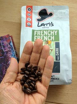 Frenchy French dark roasted coffee beans