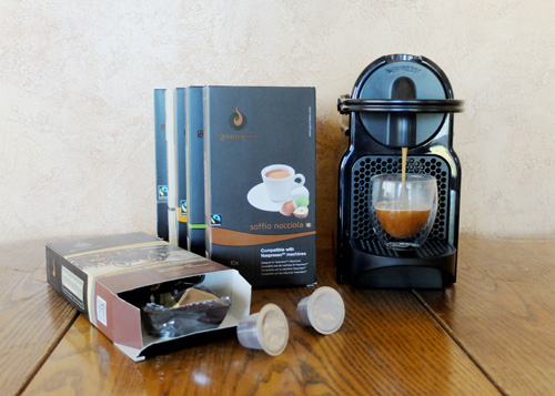 Gourmesso capsules for the Nespresso machine.