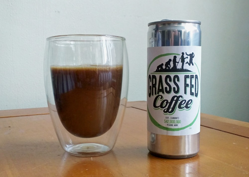 Grass fed butter coffee.