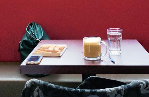 coffee on coffee shop table