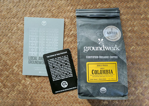 Groundwork Coffee AMUCC Colombia coffee