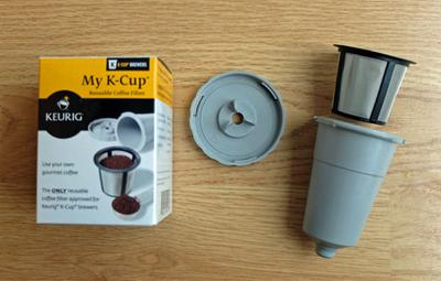 The reusable My K-Cup coffee filter for Keurig brewers.