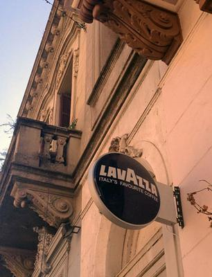 lavazza shop sign