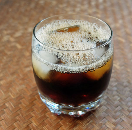 Black coffee on ice. That's right, not every iced coffee drink has to be drowned in whipped cream!