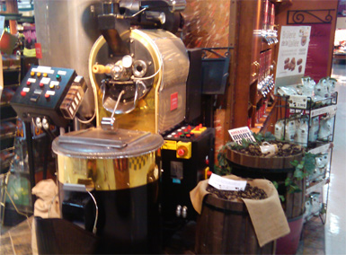 coffee roasting machine in store