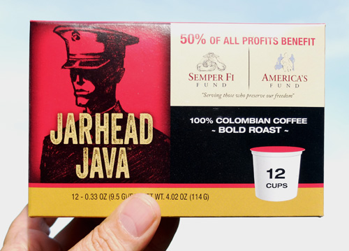 Jarhead Java K-Cup coffee.