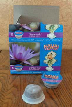 Box of Kauai Garden Isle K-Cups.