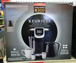 Keurig 2.0 brewer in box.