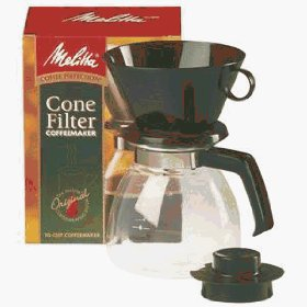A simple coffee filter cone.