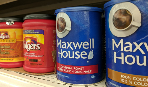 Maxwell House and Folgers coffees